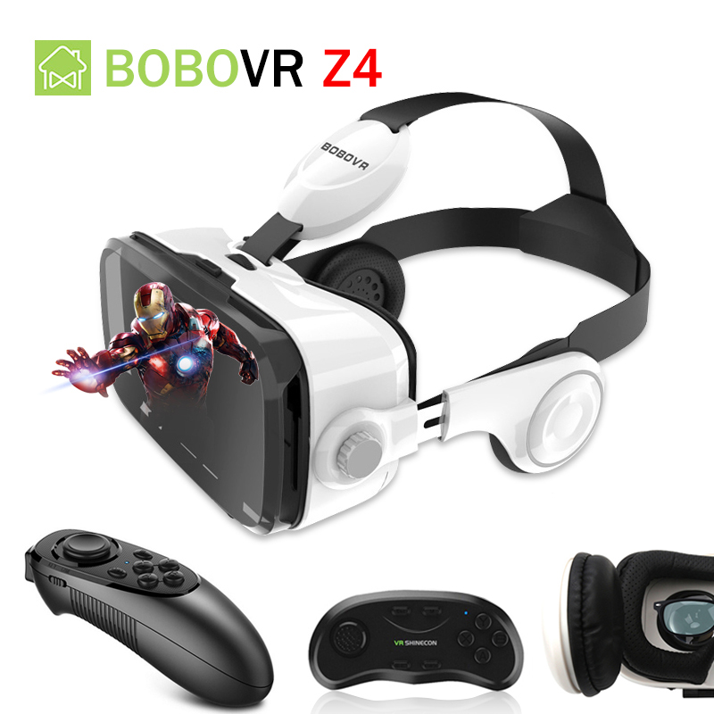 d38cd4c9546 BOBOVR Z4 Helmet Headphone VR Headset VR Box Glasses Headset Virtual  Reality Helmet 3D Glasses VR For 4-6  Smartphone VR Headset