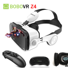 BOBOVR Z4 Helmet Headphone VR Headset VR Box Glasses Headset Virtual Reality Helmet 3D Glasses VR For 4-6′ Smartphone VR Headset