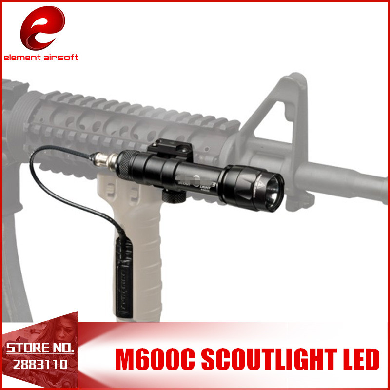 Element Airsoft Tactical SF M600C Scout Light 366Lumen LED Tactical Rifle Flashlight Softair M600 Series 20mm Rail Mount EX072
