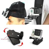 screw gopro PC Material 360 Degree Rotatable Quick Attach Bag Holder Clip Multi-functional Backpack Clamp with Screw for GoPro 4 3+ 3 (1)