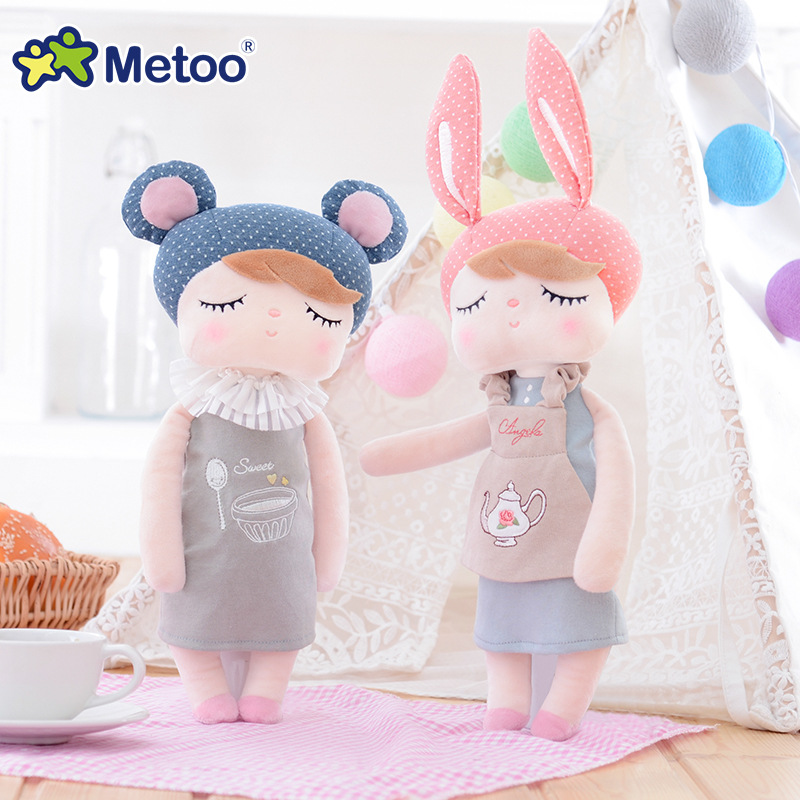 Plush Sweet Cute Lovely Stuffed Baby Kids Toys for Girls Birthday Christmas Gift 13 Inch Angela Rabbit Girl Metoo Doll