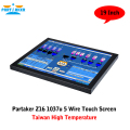 Industrial Touch Screen PC With 19 Inch Taiwan High Temperature 5 Wire Touch Screen Intel Celeron Dual Core 1037u