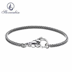 Slovecabin 925 Sterling Silver Bracelet For Fine Jewelry