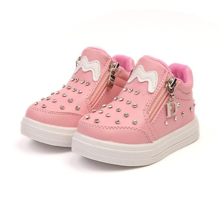 Girls Boots For Children Princess Shoes Spring/Autumn Kids Baby Fashion Boots Student Performance Shoes Girls Soft