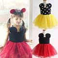 New Kids Summer Dresses Girls Cute Minnie Mouse Tutu Dress Baby Birthday Party Dress Children Clothing 80998
