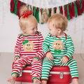 Crianças recém-nascidas Do Bebê Meninas Meninos Roupas de Manga Comprida Pijamas Roupa Romper Natal Pj's Roupas 0-24 M