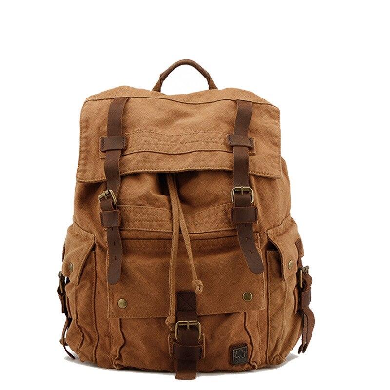 Ретро Мужская парусиновая мужская сумка-рюкзак Европа и США Марка сумка для отдыха Гуанчжоу мужские s Мужская Плечо Ба