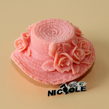 Nicole R1440 Floral Hat Shape Silicone Soap Mold Handmade Cap Mould