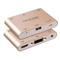Smart Converter HDMI Multi Function Video With The Device Digital AV Adapter USB+HDMI+VGA The Phone is Connected to The TV P27