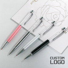 1pc Metal Crystal Gel Pens New Stationery Signature Pen Daily Writing Laser Lettering Custom LOGO Rhinestone Commemorative Gifts