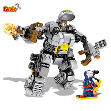 Bevle SY MK1 Super Heroes Mecha Ares Iron Man Hulkbusters Building Block Compatible with Lepin Brick Toy Gift