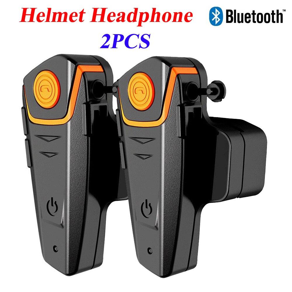 SAIYU 2 Set Helmet Headset Waterproof Motorcycle Rider Bluetooth Intercom Interphone Headset For Moto Rider With FM Radio