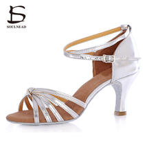 Genuine Original Latino Woman Dancing Shoes Soft Sole High Heel Professional Tango Salsa Ladies Girls Tango