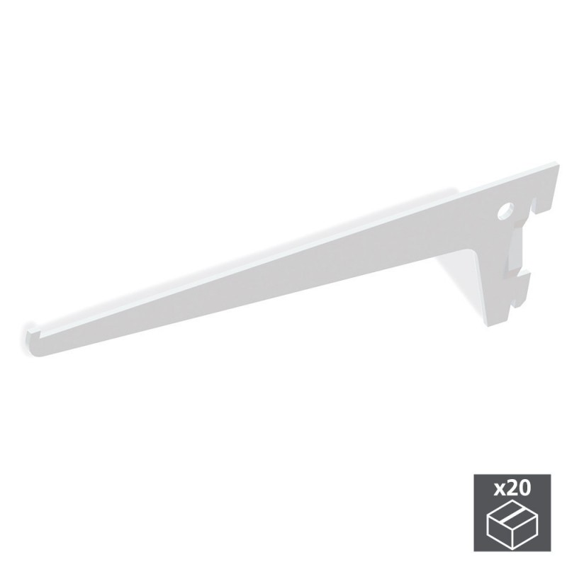 EMUCA 7908012-lot 20's Supports Shelf Jagmet Long 200mm For Profiling Groove Simple And Step 50mm