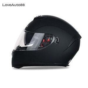 Image 1 - Casque de moto professionnel intégral casques sûrs casque de course casque de moto modulaire à double lentille pour femmes/hommes