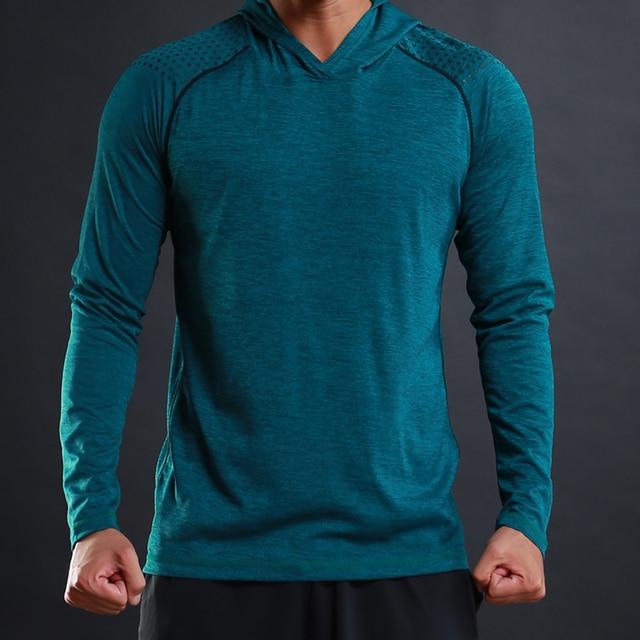 FLORATA 새로운 트렌디 한 가을 남성 T 셔츠 캐주얼 긴 소매 슬림 남성 기본 탑스 티셔츠 스트레치 티셔츠 편안한 후드 티셔츠