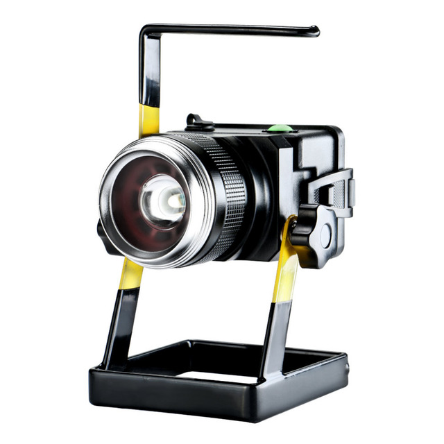30W rechargeable led work lamp Convex Lens Portable Lamp Focusing Floodlight Work Light camping outdoors lighting powered