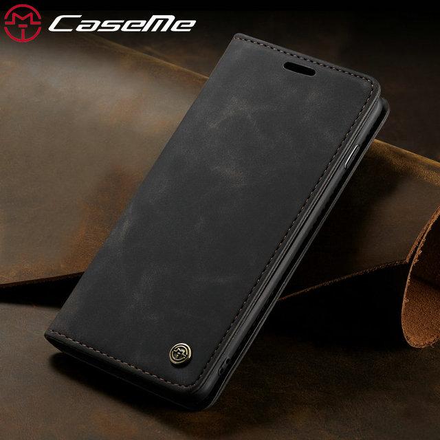 Bao Da CaseMe Retro Da Dành Cho iPhone X XS Max 360 Cao Cấp Từ Đựng Thẻ Ví Cho Iphone X XS XR 8 7 6 6 S Plus