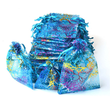100pc Big Drawable Coral Organza Bags 17x23 20x30 Colorful Storage Bag Christmas Wedding Jewelry Packaging Gift Pouches W14