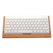 New Top SAMDI Bamboo Keyboard Stand Practical Base Holder For Apple iMac PC Computer Bluetooth Keyboard Protective Case Cover