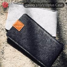 Samsung Galaxy S10/S10Plus Case arka yün keçe telefon kılıfları Samsung galaxy s10e kılıfları kapak cep telefonu el yapımı çanta
