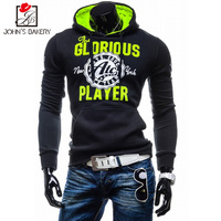 John S Bakery 2018 New Brand Hoodies Men Sweatshirt Male Solid Color Hooded Hip Hop Long