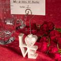 free shipping 10pcslot wedding decoration love shape photo holders place card holder favors party table setting suppliesusd 999lot