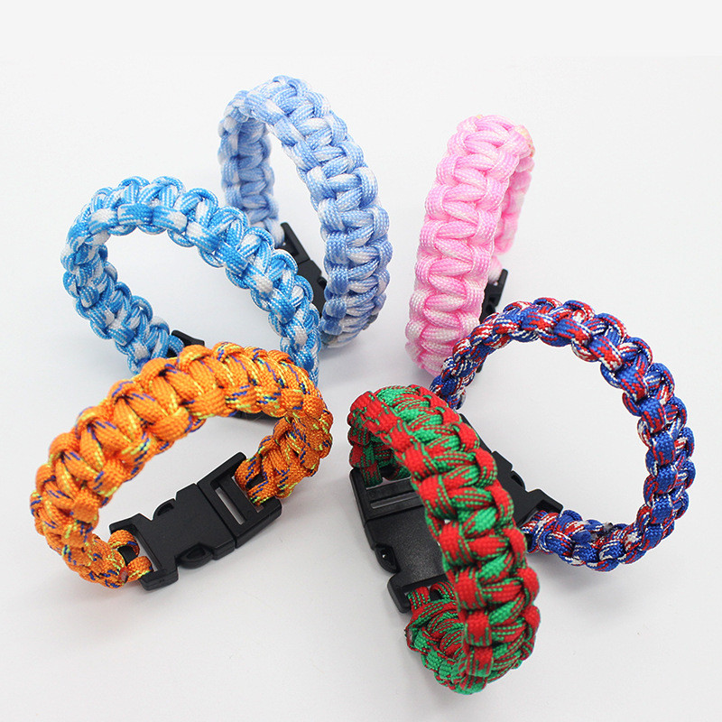 New free DHL 100PCS mix colors Cool!Multi Function Outdoor Survival Bracelet,Men's Outdoor Survival Bracelet Umbrella Bracelet