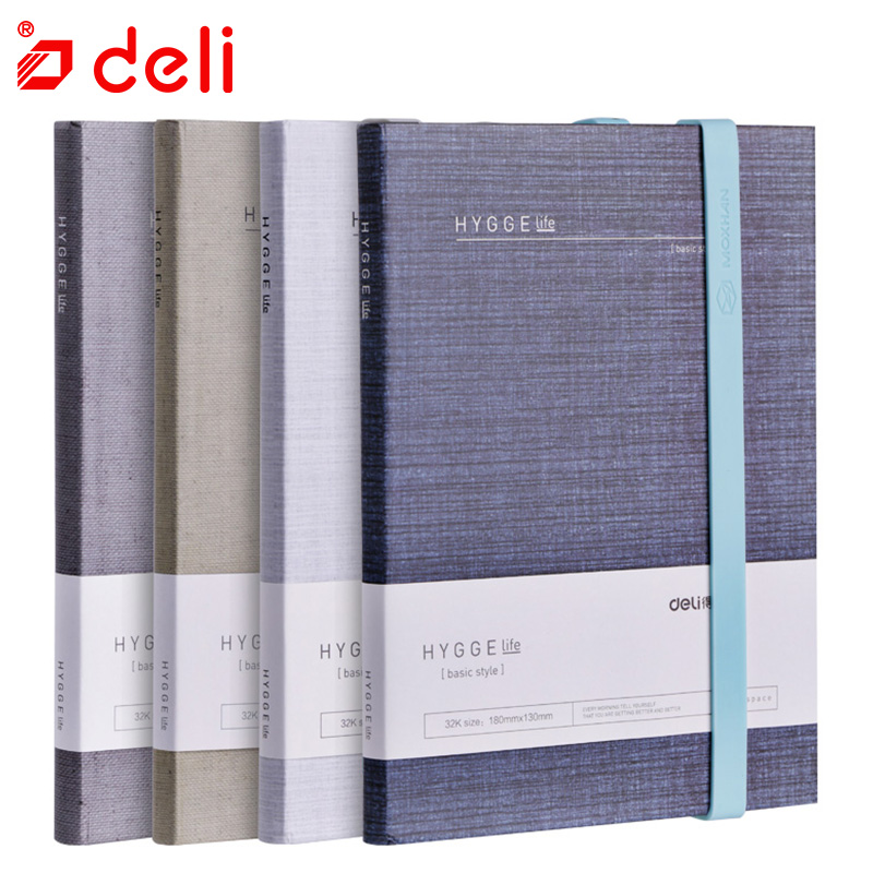 Deli 1PC 32K Hand book 130mm*180mm Notebook Planner Diary Journal 96 sheets Hand book Simple Office school supplies Gift