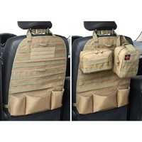 Multifunctional Car Seat Back Organizer Molle Pouch Tactical Universal MOLLE Vehicle Panel Car Seat Cover Protector