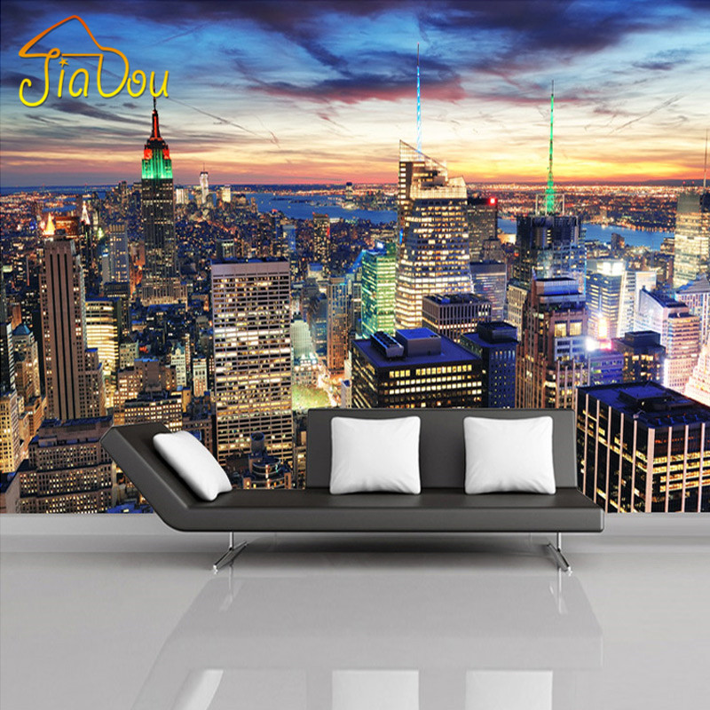 Custom Mural Wallpaper European Style 3D Stereoscopic New York City Bedroom Living Room TV Backdrop Photo Wallpaper Home Decor brooklyn black and white wallpaper mural photo wallpaper 3d mural large wall painting mural backdrop stereoscopic wallpaper