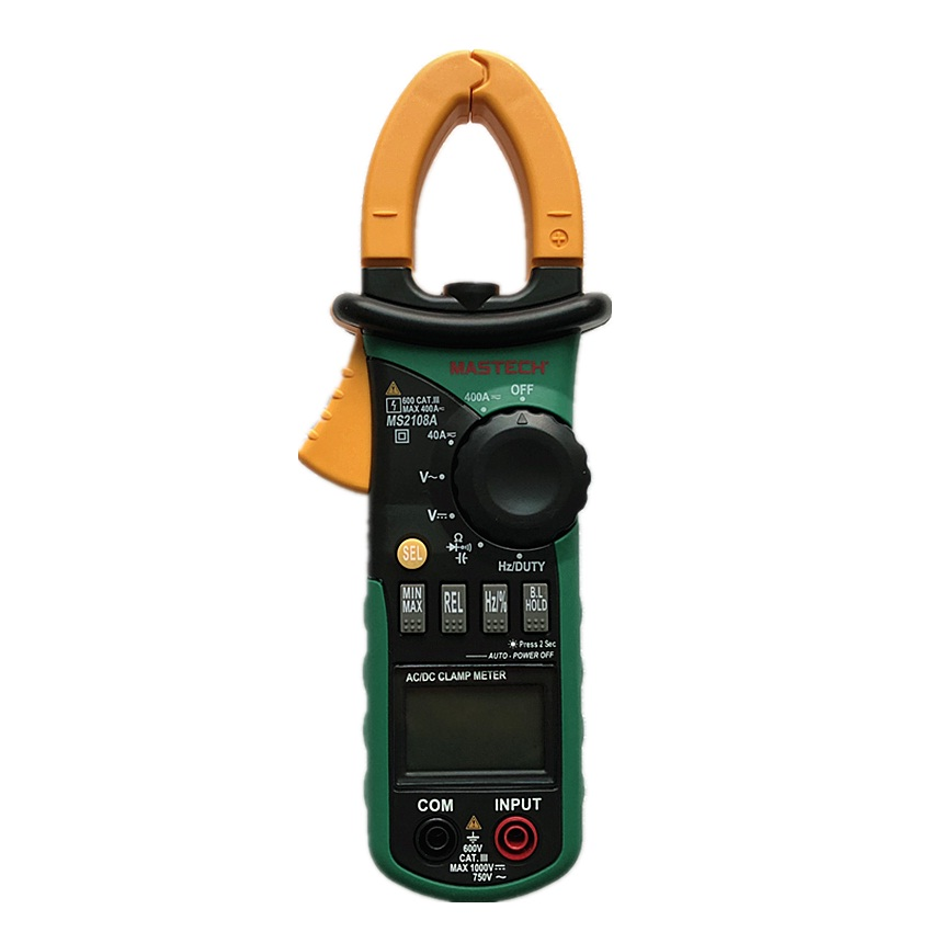 MASTECH MS2108A Digital Multimeter Amper Clamp Meter Current Clamp Pincers AC/DC Current Voltage Capacitor Resistance Tester|current clamp|clamp meter|amper clamp meter - title=