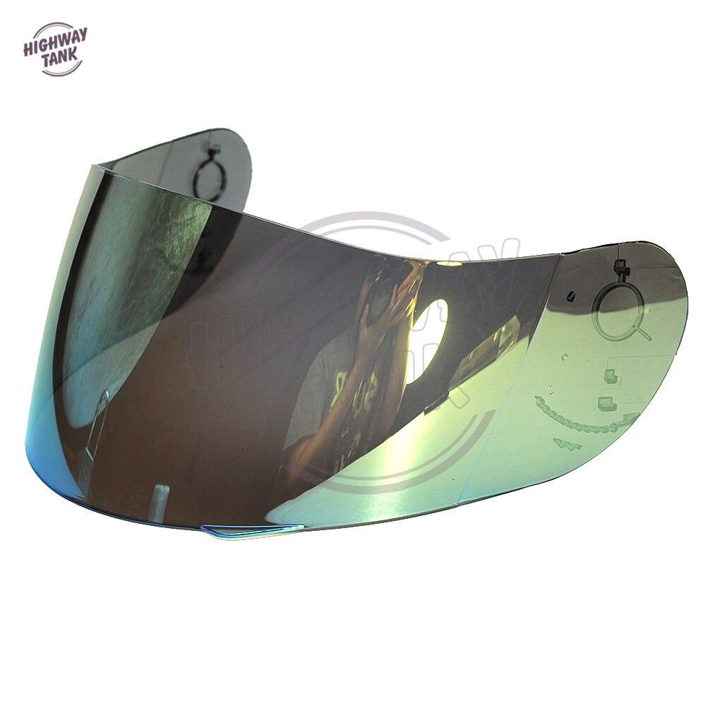 1 Pcs Gold Motorcycle Full Face Helmet Visor Shield Case for AGV GP-Pro S4 Airtech Stealth Q3 Titec