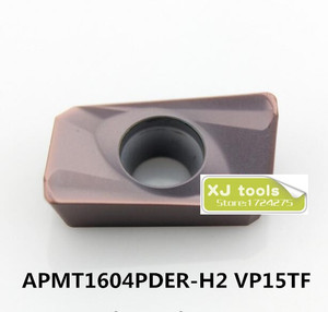 Image 1 - 50 pcs APMT1604PDER H2 vp15tf/APMT1604PDER H2 vp15tf 카바이드 밀링 인서트, 페이스 밀 bap400r 시리즈 선반 공구에 적합