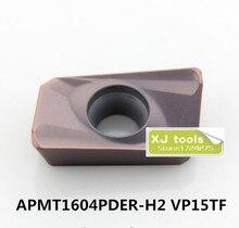 50 piezas APMT1604PDER H2 VP15TF/APMT1604PDER H2 VP15TF de plaquitas de fresado adecuado para la cara de BAP400R Series de herramienta de torno