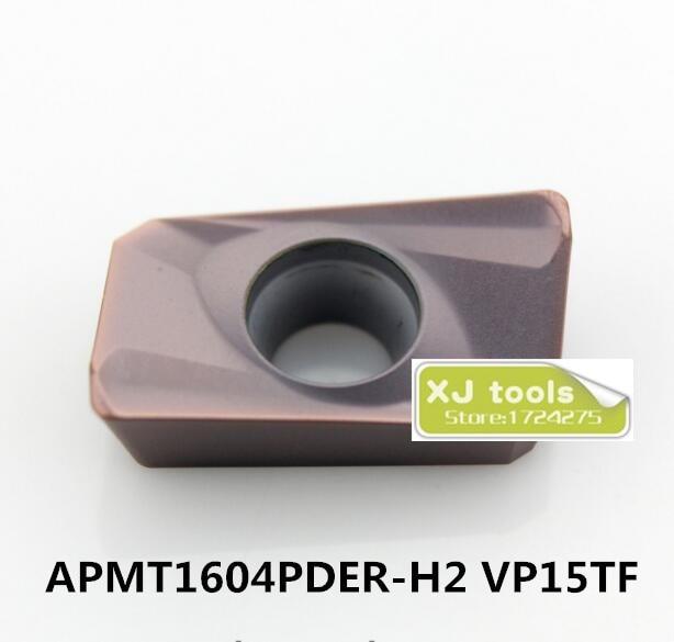 50pcs APMT1604PDER-H2 VP15TF /APMT1604PDER-H2 VP15TF Carbide Milling Inserts,Suitable For Face Mill BAP400R Series Lathe Tool