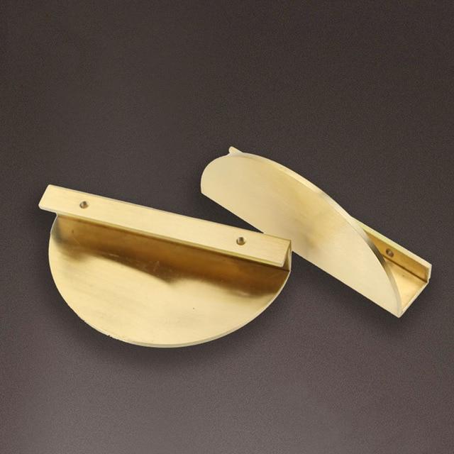 2 pieces set Round Solid Brass Handles Furniture 2