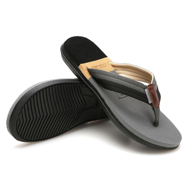 Beach Sandals Sandalias Men Shoes Summer Slippers Flip Flops Men Sandals Hombre Chausson Homme Casual Walking Shoes Gray
