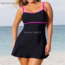 2016 New plus size monokini swimming for women high waist font b swimwear b font large
