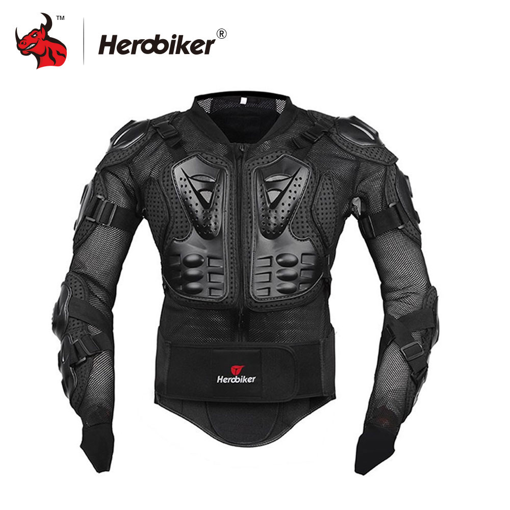 HEROBIKER Motorcycle Body Armor Protective Jacket Motorcycle Armor Motorcross Racing Body Armor Gear Armor Motorcycle Jackets scoyco professional motorcycle full body armor protector protective motorcycle body armor motorcycle jacket black and red