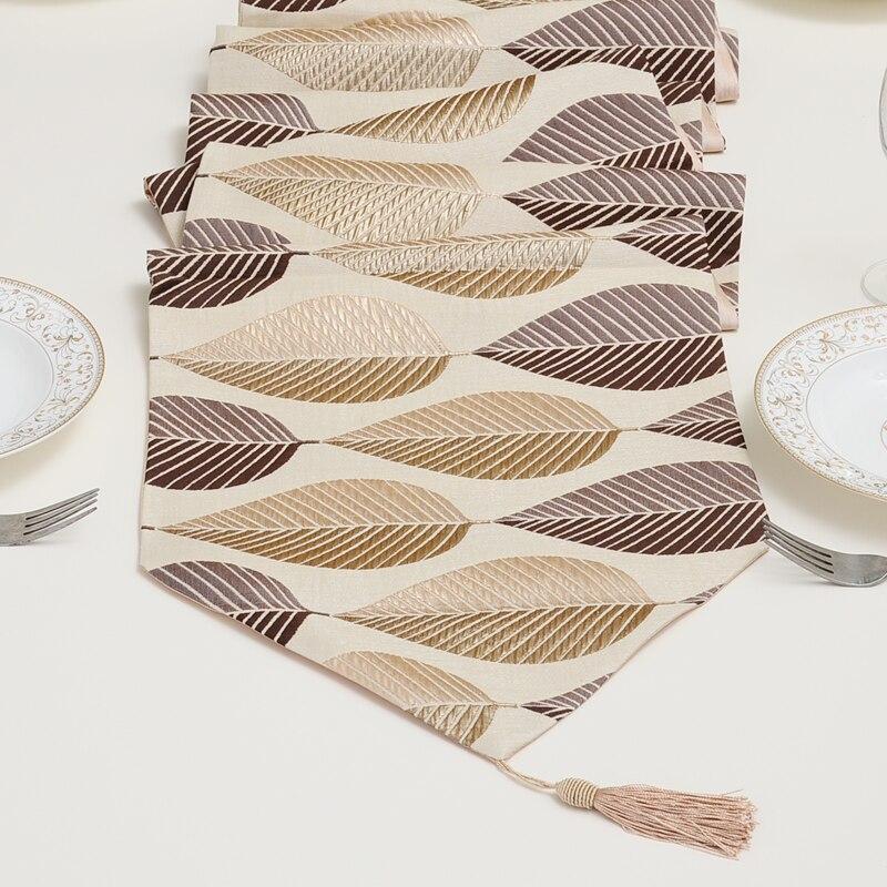 100 polyester table runner embroidered table runner beige 33 200