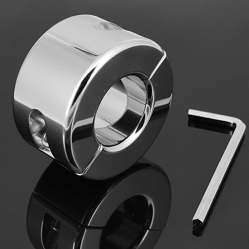Super lourd scrotum bondage civière balle poids en acier inoxydable anneau de sexe jouets pour hommes testicules cockring en métal anneau de pénis