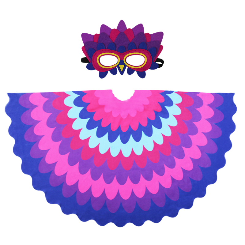 D.Q.Z 120*70 cm Girls Costumes Peacock Wing Mask Toys Animal Cosplay Christmas Gifts Nephew Dress-Up