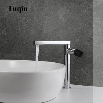 chrome brass single handle hot and cold 360 degree rotating bathroom basin faucet
