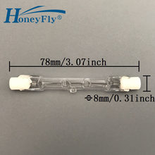 HoneyFly 2pcs J78 Halogen Bulbs Lamp Energy C J78 220V 48W 80W 120W 160W R7S Double Ended Filament Flood Light Quartz Tube(China)