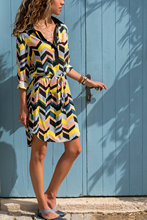 Style women dress womens flower v-neck autumn beach casaul elegent clothing new laies female dresses