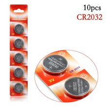 10pcs CR2032 DL2032 CR 2032 KCR2032 5004LC ECR2032 Button Cell 3V lithium Watch Coin Battery