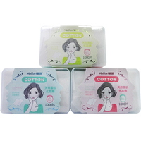 3 Set Lot Cosmetic Make Up Facial Cotton Pads Organic Cotton Swab Box Eye Cleansing Pads