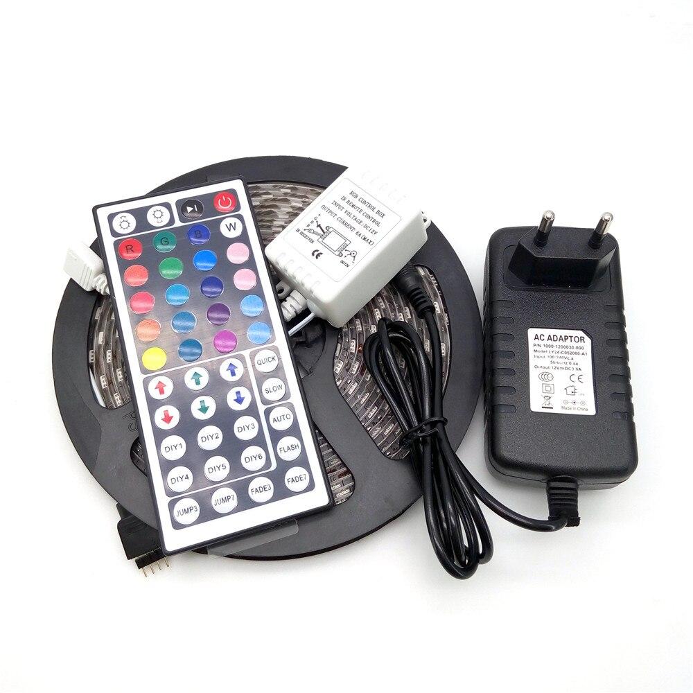 LED csík fény 5050 RGB 5M 300 LED hajlékony szalag fénykészlet + - LED Világítás - Fénykép 1