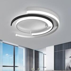 Image 2 - Lustre de plafond plafonnier moderne Modern LED Luzes de Teto sala de estar Quarto luminária Branco Preto LEVOU Rodada Lâmpada Do Teto